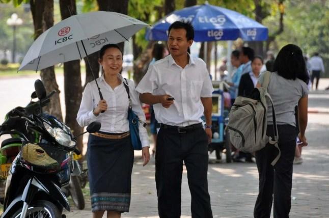 Les habitants de Vientiane Laos