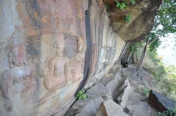 Bas relief Khao Phra Wihan National Park