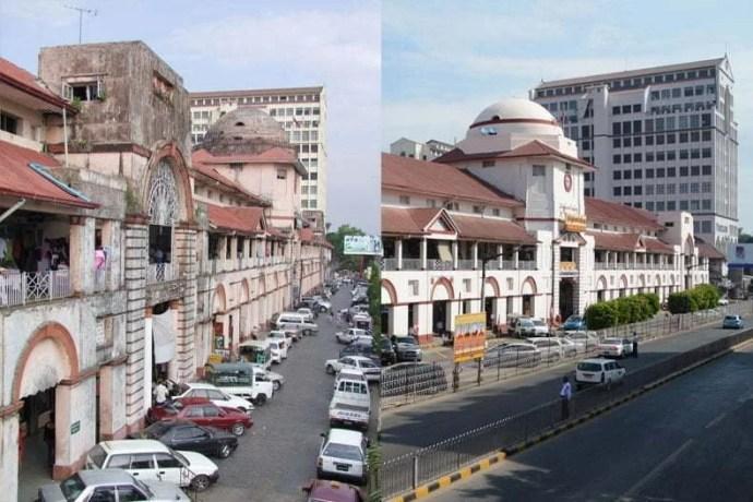Le marché en 2008 et 2014.