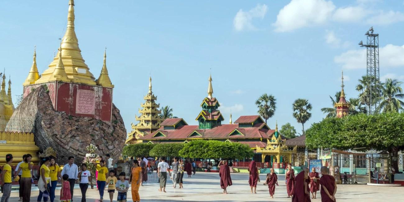 pagode shwemawdaw bago birmanie
