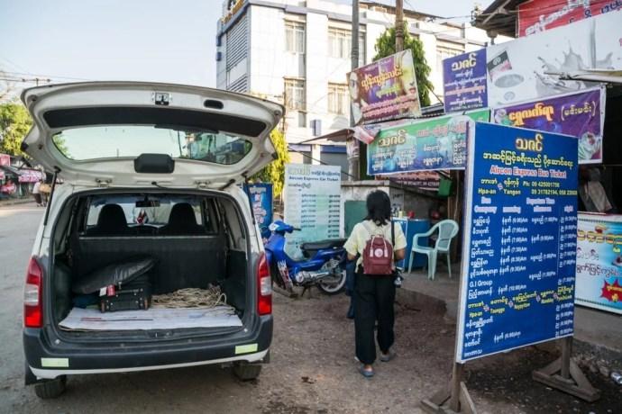 taxi hpa an birmanie