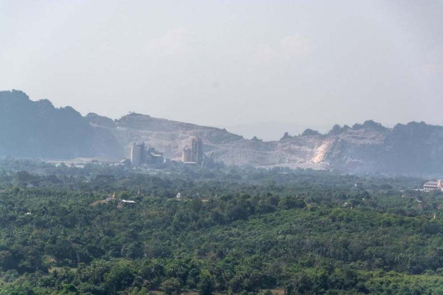 vue depuis hpan pu hpa an birmanie