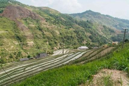 nord Vietnam - route entre Vinh Quang et Ha Giang