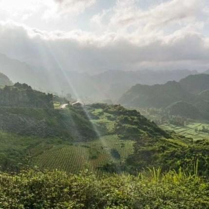 moto nord Vietnam - paysage entre Dong Van - Bao Lac