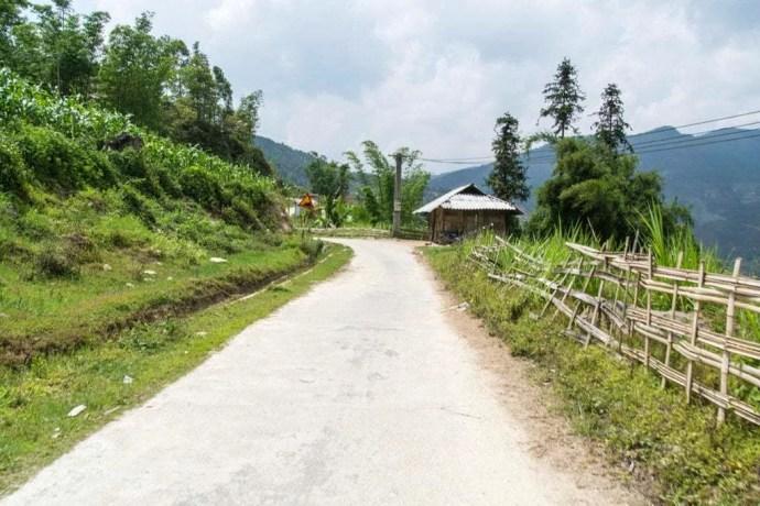nord Vietnam - route près de la frontiere chinoise