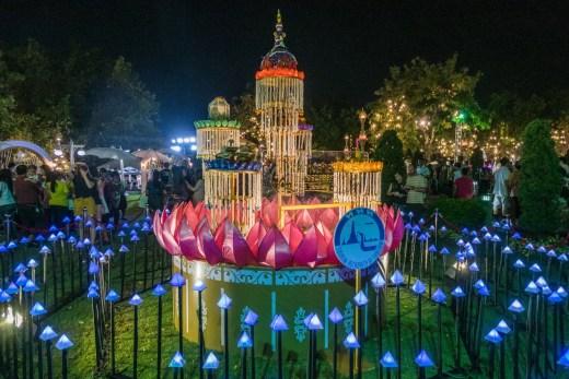 decorations festival loy krathong thailande