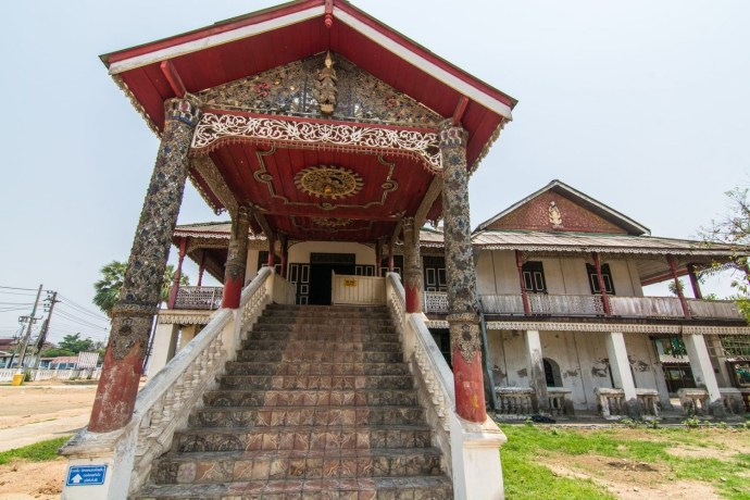 escalier wat chai mongkol lampang thailande