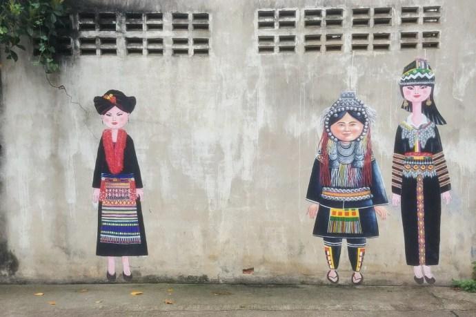 street art lampang hilltribe