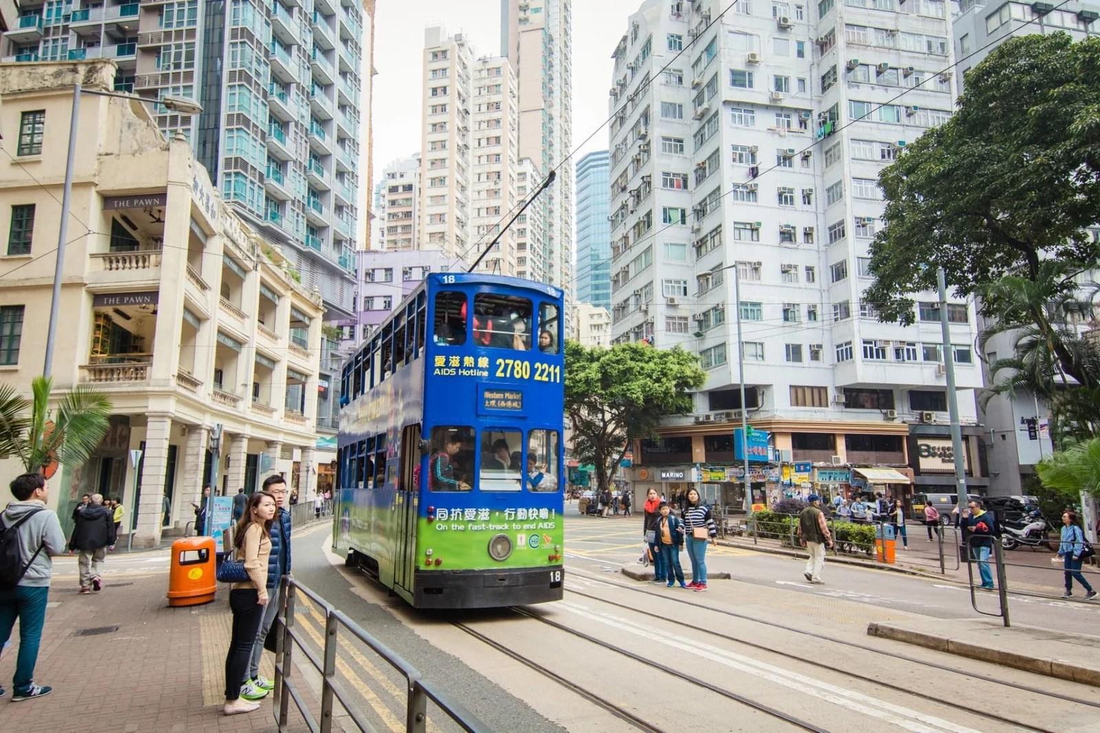 vue d'hong kong et son tramway