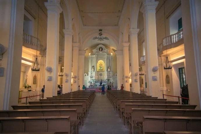 intérieur église saint dominique - macao