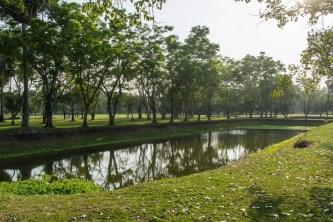 parc historique de sukhothai en fevrier
