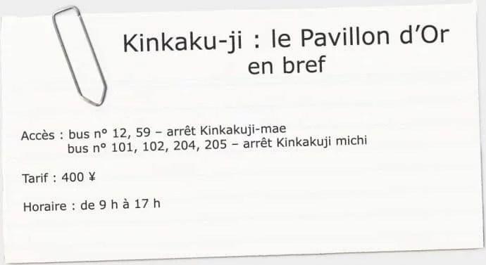 infos utiles kinkaku-ji kyoto