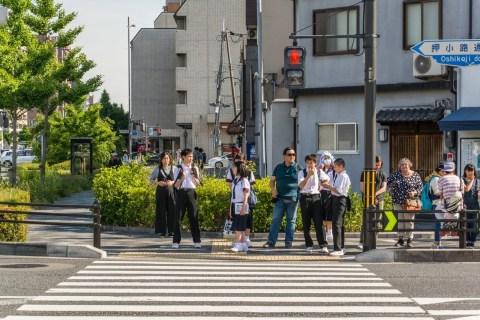 passage pieton kyoto - japon