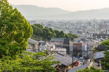 vue kyoto depuis temple kiyomizu dera