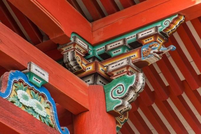 detail temple kiyomizu dera - kyoto