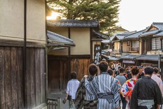 vers sannenzaka quartier higashiyama kyoto