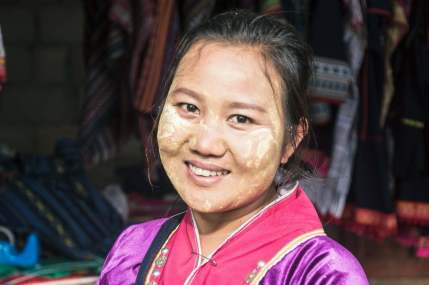 sourire femme ethnie palaung doi ang khang