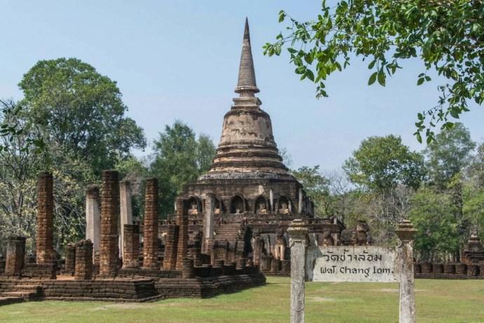 wat chang lom parc historique si satchanalai - thailande