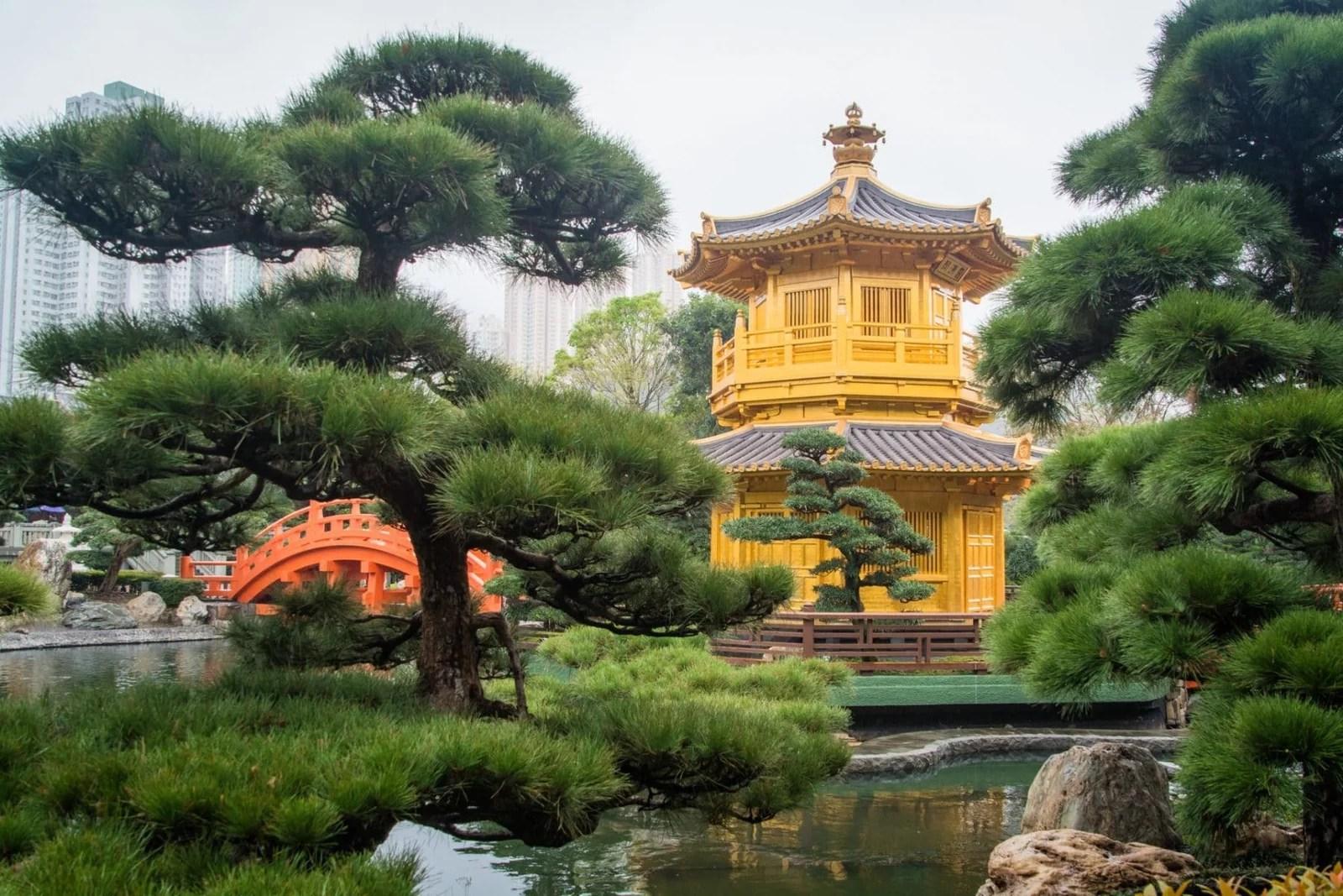 le pavillon doree - jardins nan lian - hong kong
