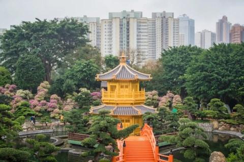 pavillon doree et jardins de nan lian - hong kong