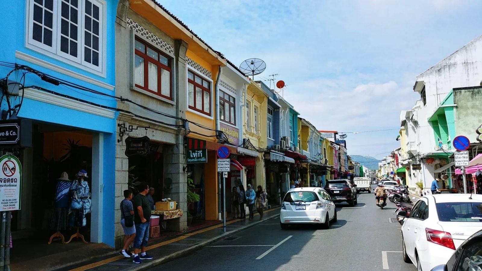 rue colorée thalang road phuket town