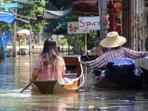 2 barques marché flottant damnoen saduak