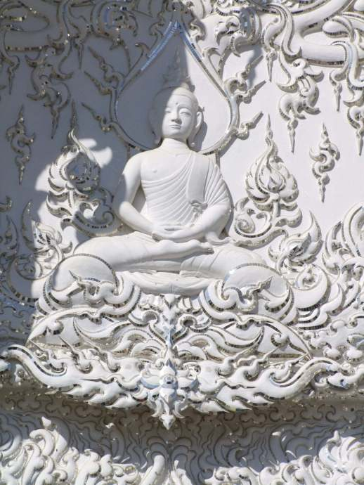 bouddha meditation temple blanc chiang rai