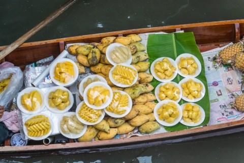 mangue bateau marché flottant damnoen saduak