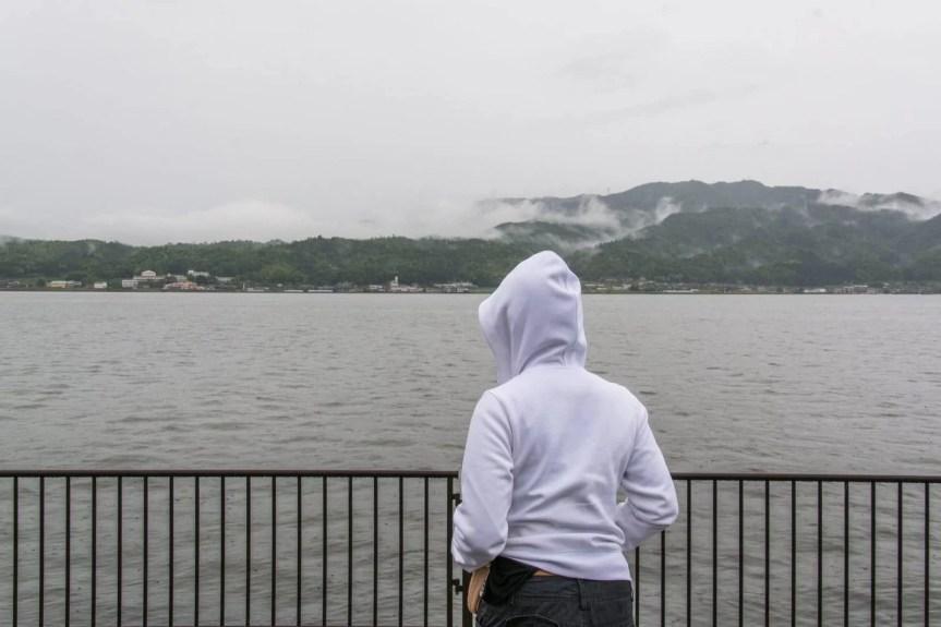 vue brumeuse amanohashidate japon