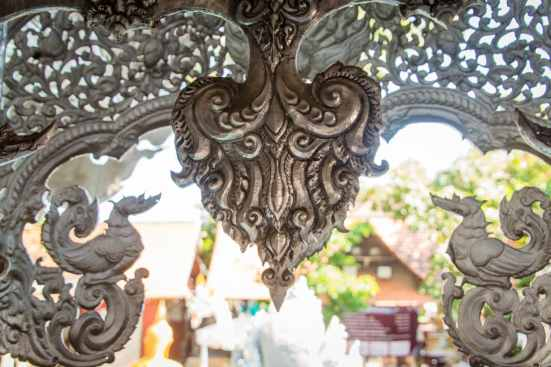 detail wat si suphan silver temple - chiang mai