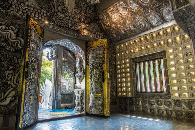 entree interieur wat si suphan silver temple - chiang mai