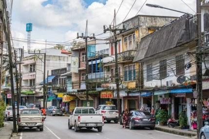 rue principale ruangrat - ranong - thailande