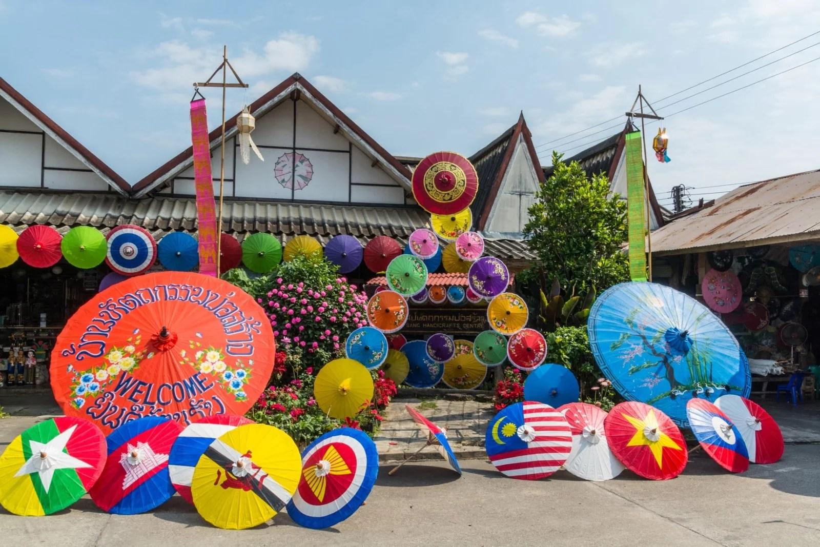 cover village bo sang chiang mai - thailande