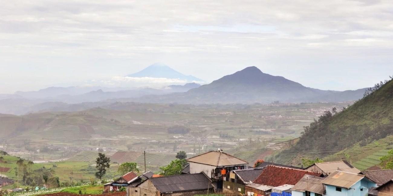 vue depuis dieng plateau île de java