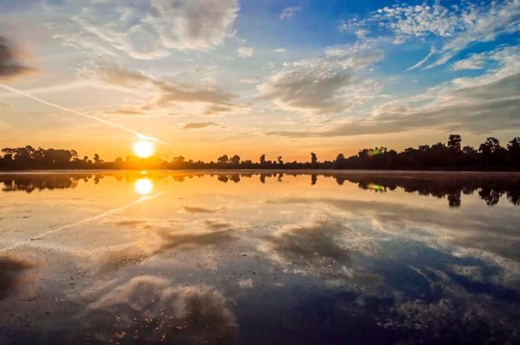 lever soleil angkor - cambodge
