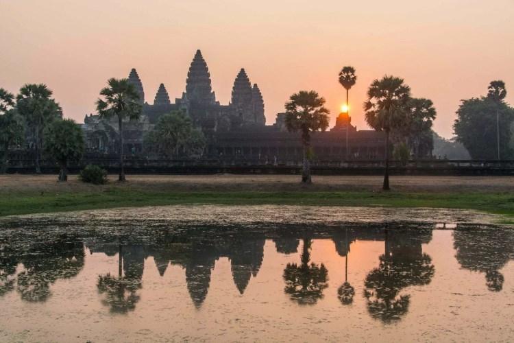lever soleil angkor wat - cambodge