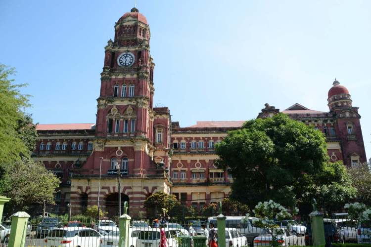 palais de justice yangon - birmanie