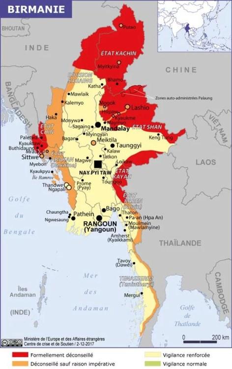 zone a risques birmanie 2017