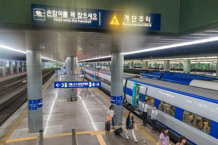 gare de busan retour seoul en train