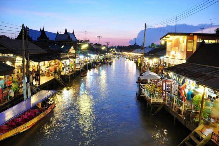 marche de nuit amphawa de nuit - thailande