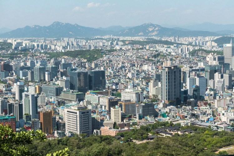 vue de seoul depuis colline namsan