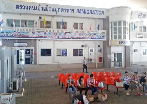 passage immigration pont amitié lao-thai mukdahan-savannakhet