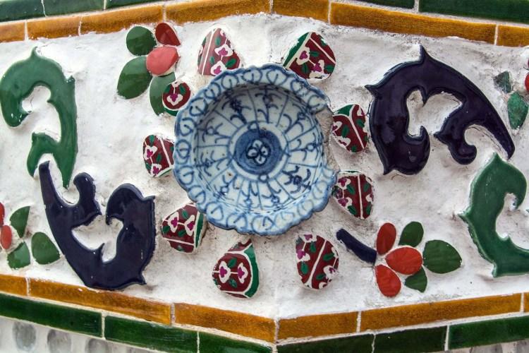 porcelaine chinoise decorant wat arun bangkok