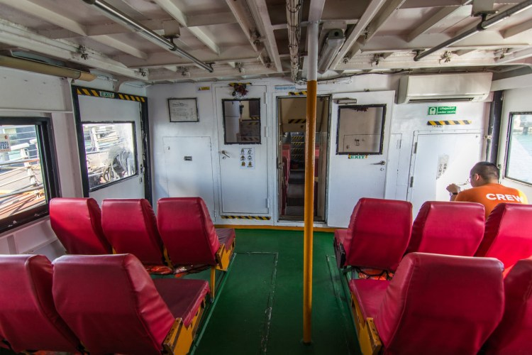 cabine ferry vers st john kusu singapour
