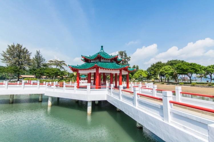 passerelle temple chinois kusu island singapour