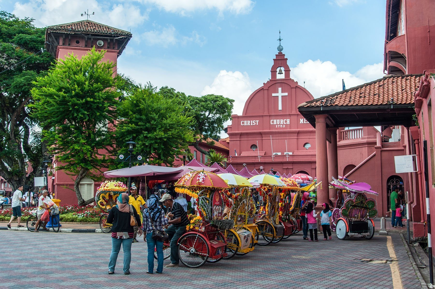 place rouge a malacca malaisie