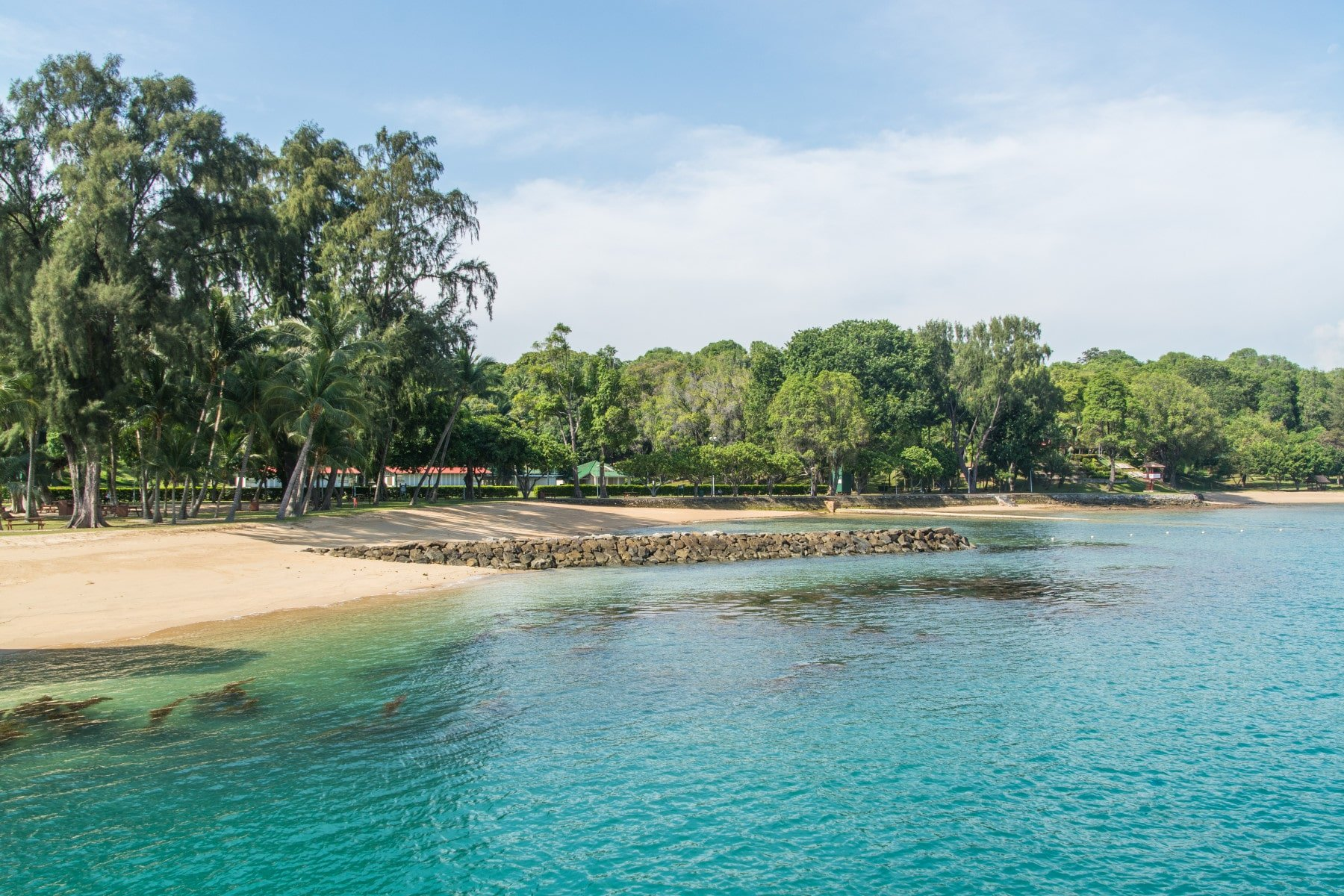plage ile st john - singapour