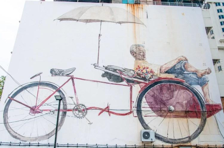 trishaw mural penang