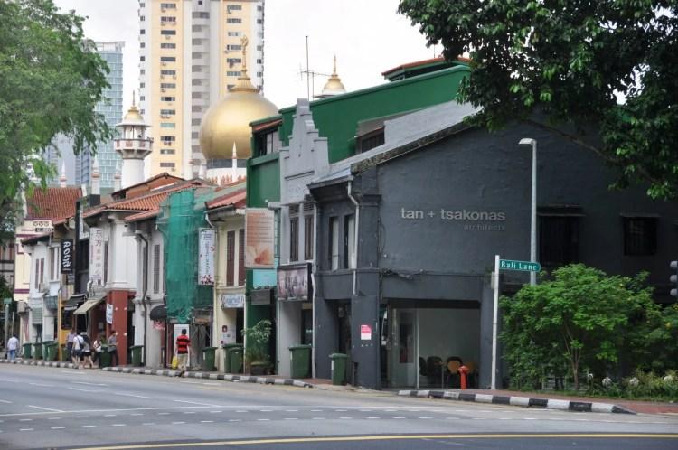 en arrivant vers arab street singapour