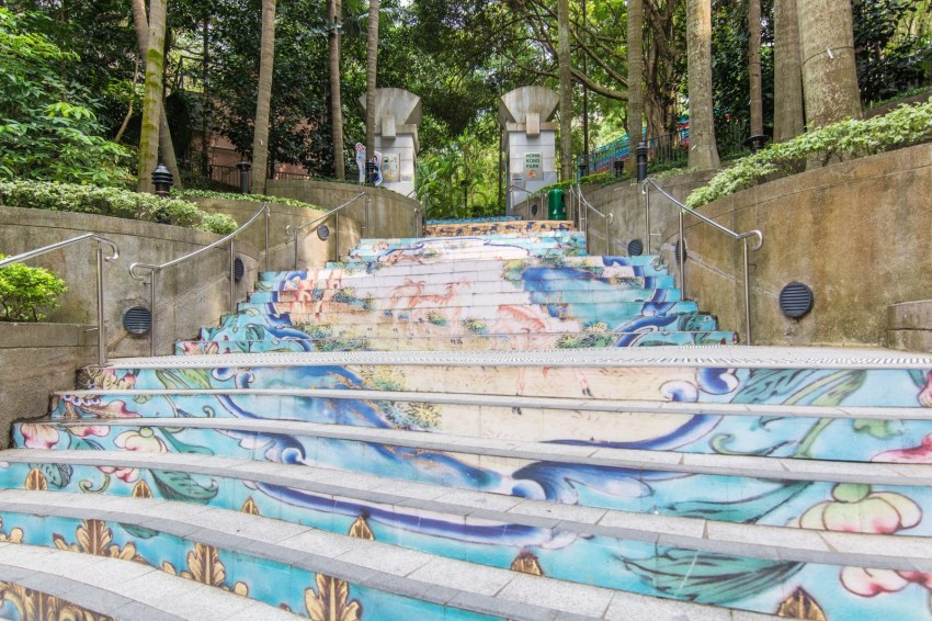 escaliers hong kong park
